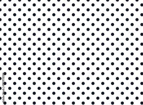 Black and White Polka Dot Background -Pattern