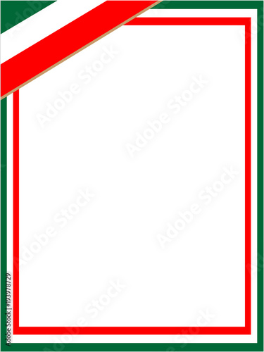 Italian Green White Red Flag Frame Buy This Stock Vector And