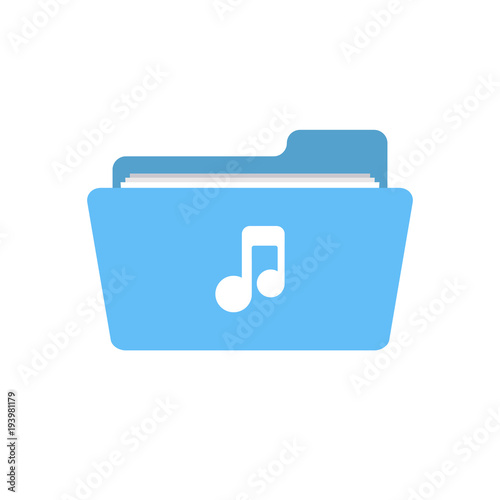 Audio folder media music note player sound icon - Buy this