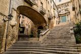Fototapeta Uliczki - The old city of Girona, Spain