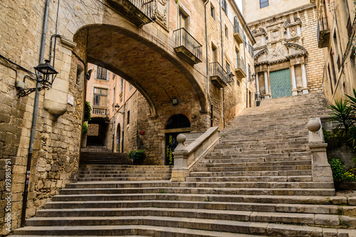 The old city of Girona, Spain