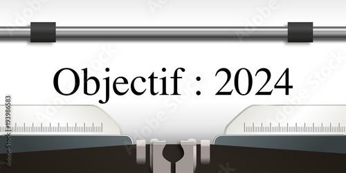Poster  objectif - objectif 2024 - projet - challenge - 2024 - entreprise -stratégie - p