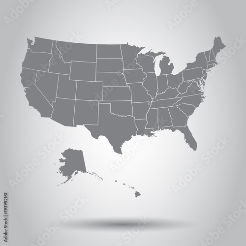 Photo  USA map icon