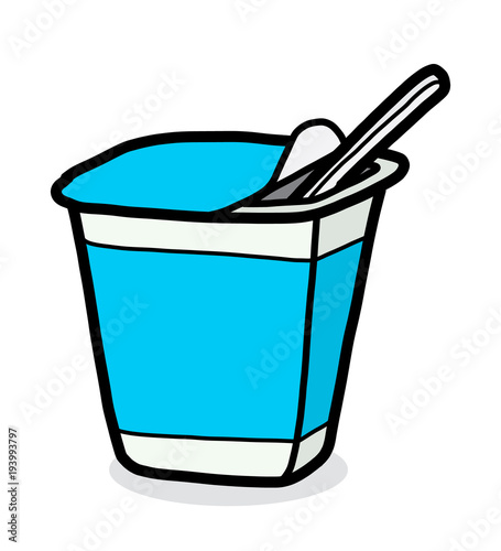 yogurt cup / cartoon vector and illustration, hand drawn ...