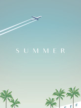 Summer Traveling Vector Poster...