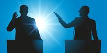 Débat - Discours - Débattre - Meeting - Micro - Leadership - Politicien - élection - Politique