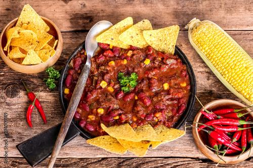 chili con carne et nachos 1