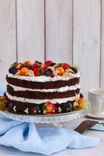 Naked Cake With Cream