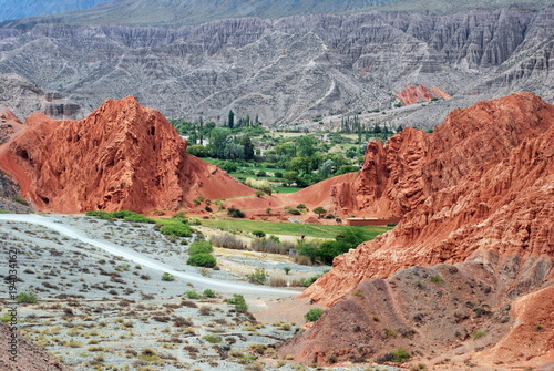 Landscape in Pumamarca in the Jujuy region in the North of Argentina Wallpaper Mural