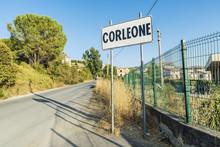 Corleone Street Sign In Sicily...