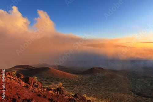 Staande foto Texas Sunset at Mauna Kea, Big Island, Hawaii