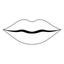 Lips Female Isolated Icon Vect...
