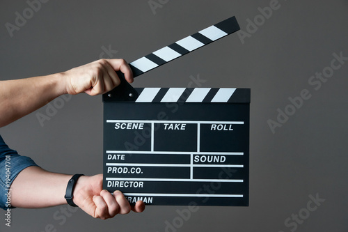 Canvas Print A movie production clapper board