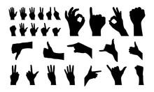 Various Of Hand Gesture Silhou...