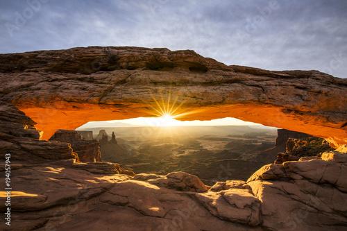 Printed kitchen splashbacks Brown Mesa Arch