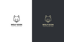 Stylized Geometric Wolf Head I...