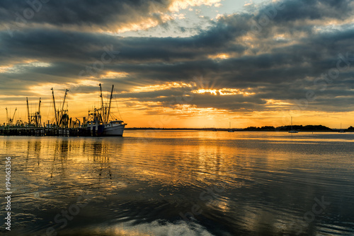 Photo AMELIA ISLAND FISHING FLEET AT SUNSET