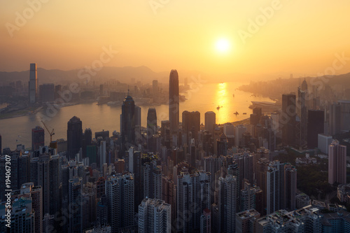 Hong Kong lever du soleil Canvas Print
