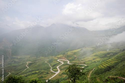 In de dag Khaki Ban Ho Village, Sapa District, Lao Cai Province, Northwest Vietnam