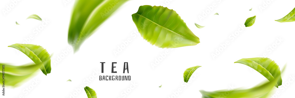 Fototapeta Flying tea background