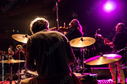 Photo Behind the drummer