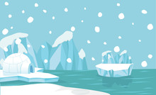 North Pole Arctic Landscape Background