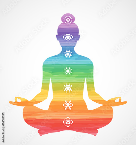 Canvas Print Les Sept Chakras