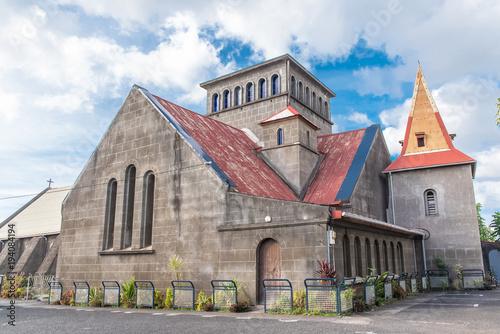 Poster Monument Guadeloupe, Saint-Joseph church in Vieux-Habitants village