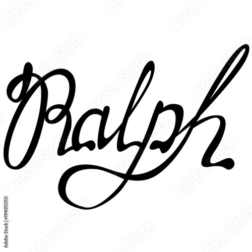 Photo  Ralph name lettering