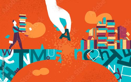Vászonkép Portare la Cultura Ovunque