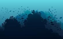 Ocean Underwater World With An...