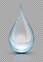 Water Drops Vector Illustration