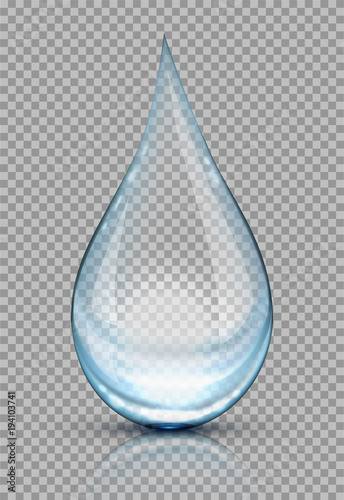 Fototapeta Water drops vector illustration obraz