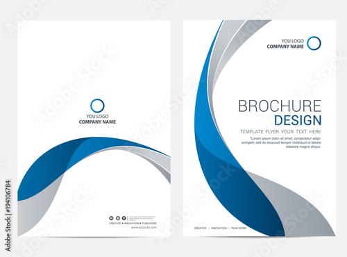 Photo Brochure template flyer design vector background