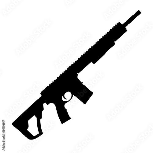 Fotomural  Assault rifle vector