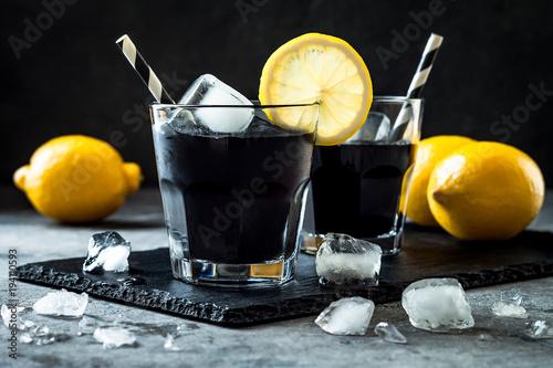 Detox activated charcoal black lemonade. Wallpaper Mural