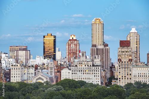Keuken foto achterwand New York New York City skyline over the Central Park at sunset, USA.