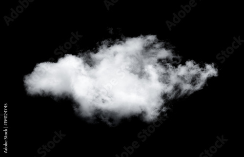 Foto op Plexiglas Hemel clouds isolated on black background