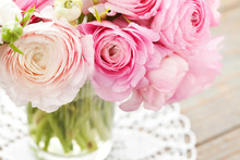 Bouquet Of Pink Ranunculus (bu...