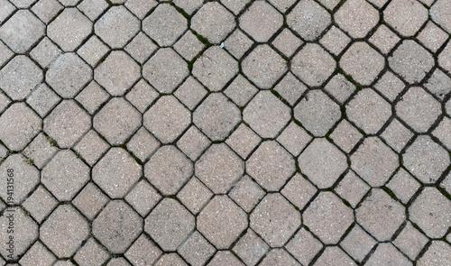 In de dag Stenen Grey bricks on a ground - wallpaper texture