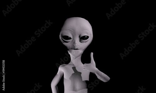 Grey alien like Wallpaper Mural