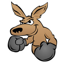 Cute Kangaroo With Boxing Glov...