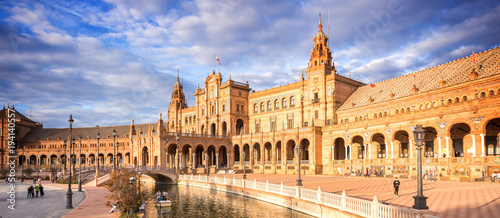 Plaza de Espana (Spain square) in Seville, Andalusia Wallpaper Mural