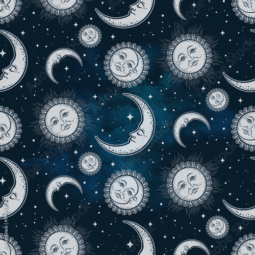 seamless-pattern-with-celestial-bodies-moon-sun-and-stars-over-blue-night-sky-background-boho-chic-fabric-print-wrapping-paper-or-textile-design-hand-drawn-vector-illustration