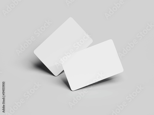 Two white business cards with round corners 3d rendering buy this two white business cards with round corners 3d rendering reheart Image collections