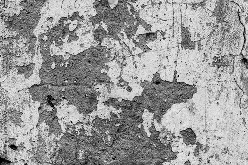 Poster Vieux mur texturé sale Wall fragment with scratches and cracks