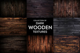 Dark wooden background or texture with natural pattern, collection