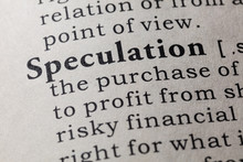 Definition Of Speculation