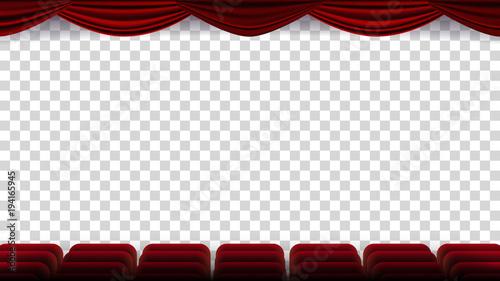 Fotografie, Tablou  Cinema Chairs Vector