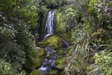 Magical Waterfall And Rocks Co...
